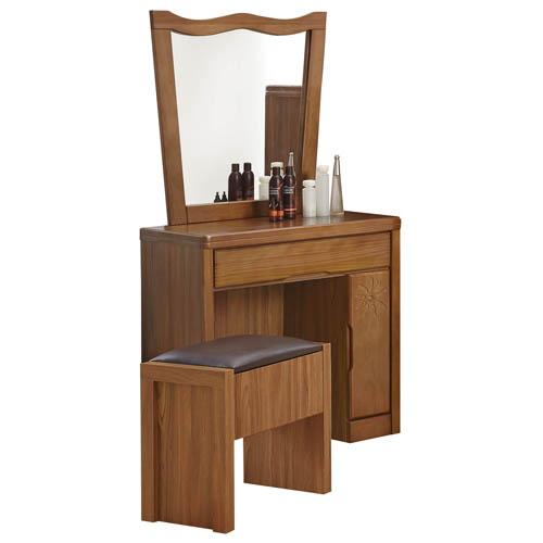 娜卡緹實木鏡台(含椅)