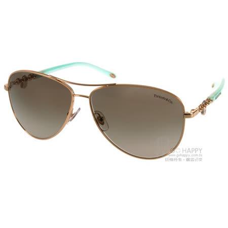 Tiffany&CO. 太陽眼鏡 水鑽金鑰飛官款(金-蒂芬妮綠) #TF3034 60213M