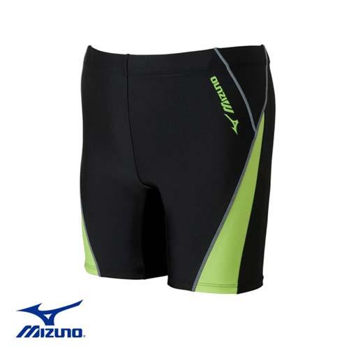 (男) MIZUNO SWIM FITNESS 泳褲-游泳台北 市 中山 區 敬業 三 路 123 號 競賽 美津濃 平口 黑綠