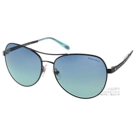 Tiffany&CO.太陽眼鏡 典雅人氣飛官款(黑-藍) #TF3051B 60999S