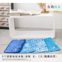 清新冰涼 水枕冰枕 大- 2入(隨機出貨)