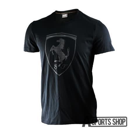 PUMA (男) 彪馬 法拉利經典系列大盾牌短袖T恤(M) 黑-57136601