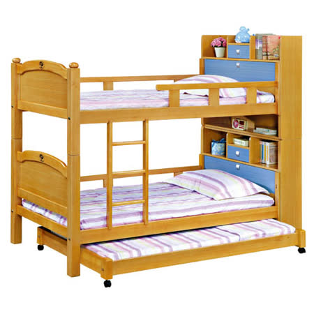 貝克多功能實木雙層床(不含子床.床墊)