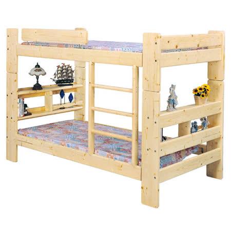 亞米3.5尺白松木雙層床(不含床墊)