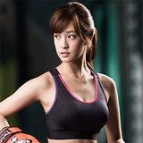 【華歌爾】輕運動5星級防護 D 罩杯M-3L 運動內衣(健美黑)
