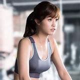 【華歌爾】輕運動5星級防護 D 罩杯M-3L 運動內衣(競技灰)