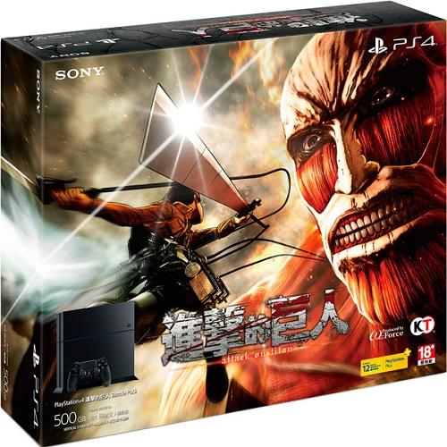 PS4 進擊的巨人同捆機 第二支 控制器^(黑色^) 副廠雙手把充 亞洲中文版