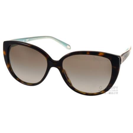 Tiffany&CO.太陽眼鏡 奢華經典女款(琥珀-蒂芬妮綠) #TF4082 80153M