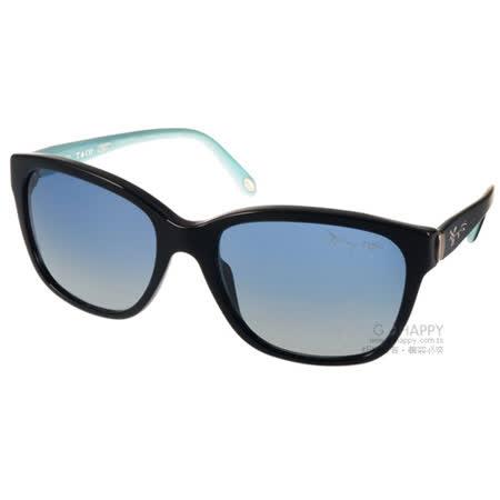 Tiffany&CO.太陽眼鏡 奢華經典微貓眼款(黑-蒂芬妮綠) #TF4083 80014L