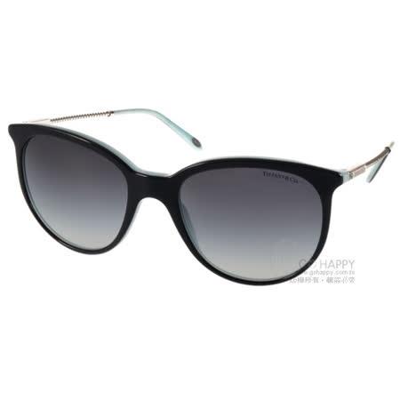 Tiffany&CO.太陽眼鏡 別緻優雅貓眼款(黑銀-蒂芬妮綠) #TF4087B 80553C