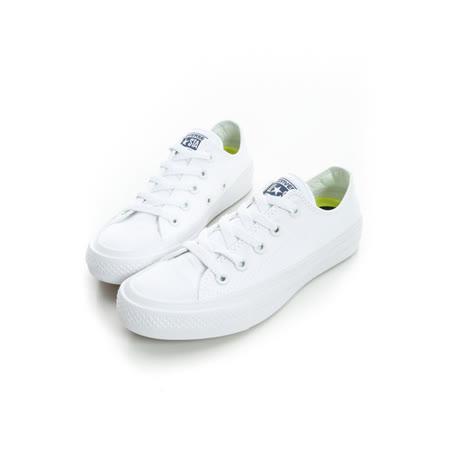 CONVERSE(男女童)低筒帆布鞋 白