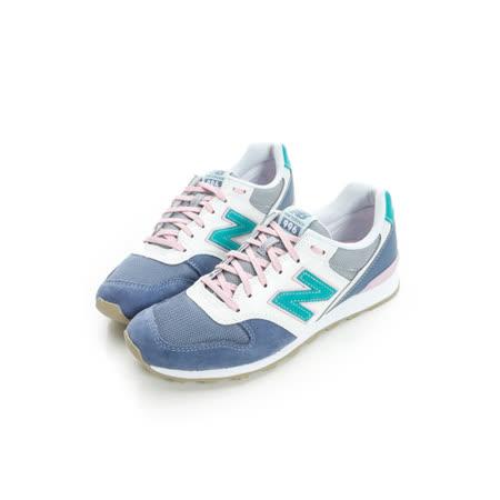 NEW BALANCE 女 復古運動鞋 白粉紫WR996HL