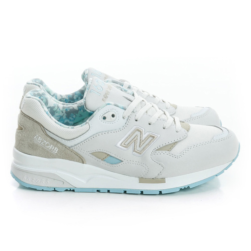 New balance 女 慢跑鞋 白米灰藍綠 麂皮~CW1600WB