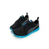 PUMA (童)慢跑鞋 黑藍-18789419
