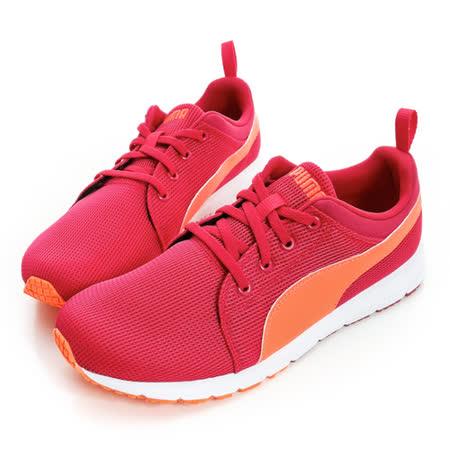 PUMA(童/女) 慢跑鞋 桃/橘-18789421
