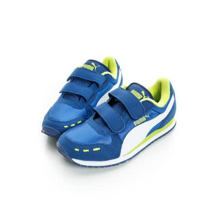 PUMA(童)慢跑鞋 藍綠35637317