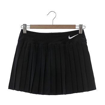 Nike(女)網球短裙 黑色 728774010