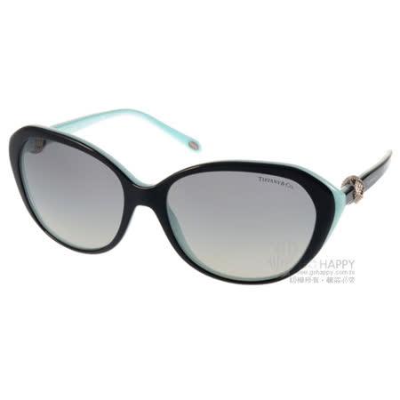 Tiffany&CO.太陽眼鏡 奢華經典百搭款(黑-蒂芬妮綠) #TF4098 80553C