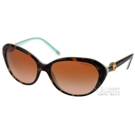 Tiffany&CO.太陽眼鏡 奢華經典百搭款(琥珀-蒂芬妮綠) #TF4098 81343B