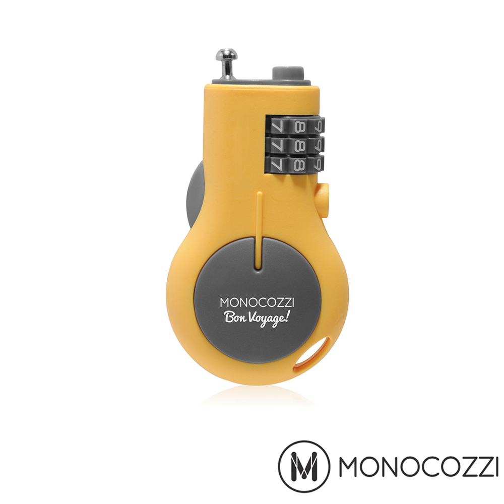 MONOCOZZI RETRACTABLE LUGGAGE LOC雙 和 sogo 百貨K 旅行伸縮密碼鎖 - 嫩黃