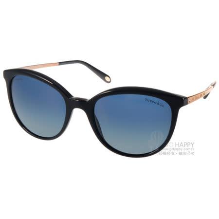 Tiffany&CO.太陽眼鏡 奢華貓眼偏光款(黑-金) #TF4117B 80014U