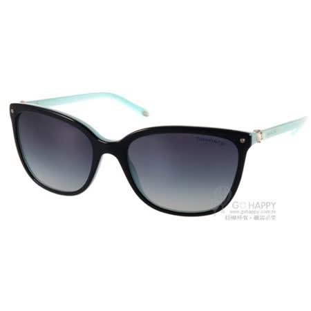 Tiffany&CO.太陽眼鏡 奢華典雅珍珠款(黑-蒂芬妮綠) #TF4105HB 80553C