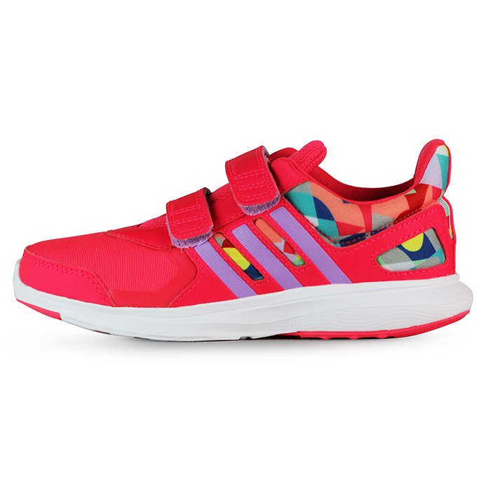adidas 童 HYPERFAST 2.0 CF K 愛迪達 慢跑鞋 紅 ~ AF450