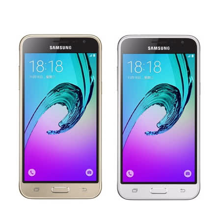 Samsung Galaxy J3(2016)四核心5吋4G全頻雙卡機 -贈專用馬卡龍皮套+多國專利抗藍光鋼化玻璃保貼+手機/平板支架+奈米矽皂
