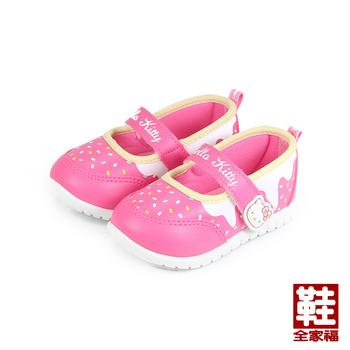 (小童) HELLO KITTY 黏帶娃娃鞋 桃 鞋全家福