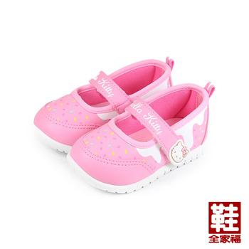 (小童) HELLO KITTY 黏帶娃娃鞋 粉 鞋全家福