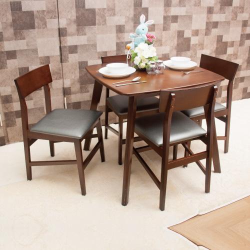【AS】杰杰羅姆與傑夫餐桌椅組(一桌四椅)