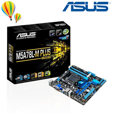 ASUS 華碩 M5A78L-M PLUS/USB3 主機板 / AM3+