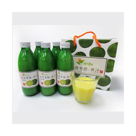 陽光農業-台灣香檬原汁六入禮盒(300ml*6)