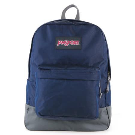 JanSport校園背包(BLACK SUPERBREAK)-經典藍