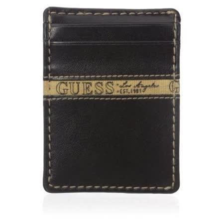 【Guess 】2016男時尚Montana前口袋黑色皮夾【預購】