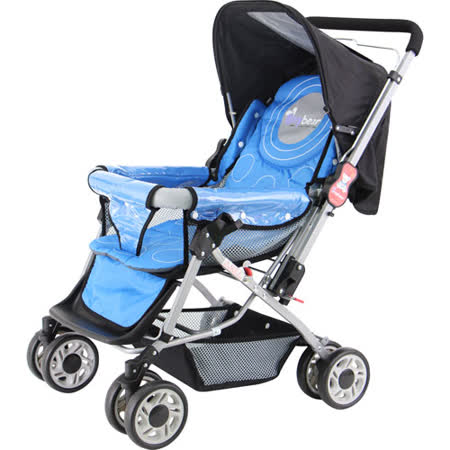 湯尼熊 Tony Bear 嬰兒加寬雙向推車(附蚊帳)-藍色