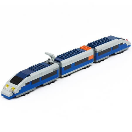 【開箱心得分享】gohappy 線上快樂購《Nano Block 迷你積木》【列車收藏築系列】nGT_010藍色子彈列車好嗎新光 三越 新天地