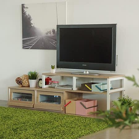 《舒適屋》無印風伸縮電視櫃/大茶几/收納櫃