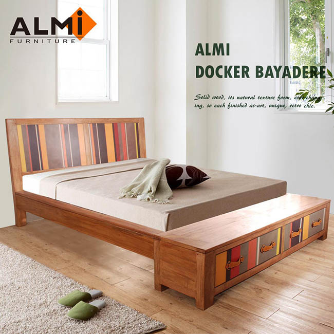 ~ALMI~DOCKER BAYADERE~BED 154x192 雙抽雙人床
