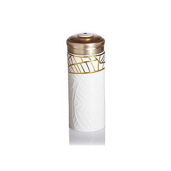 乾唐軒活瓷‧吉星金枝玉葉隨身杯(大 / 雙層/ 鎏金+白 /  施華洛世奇元素)