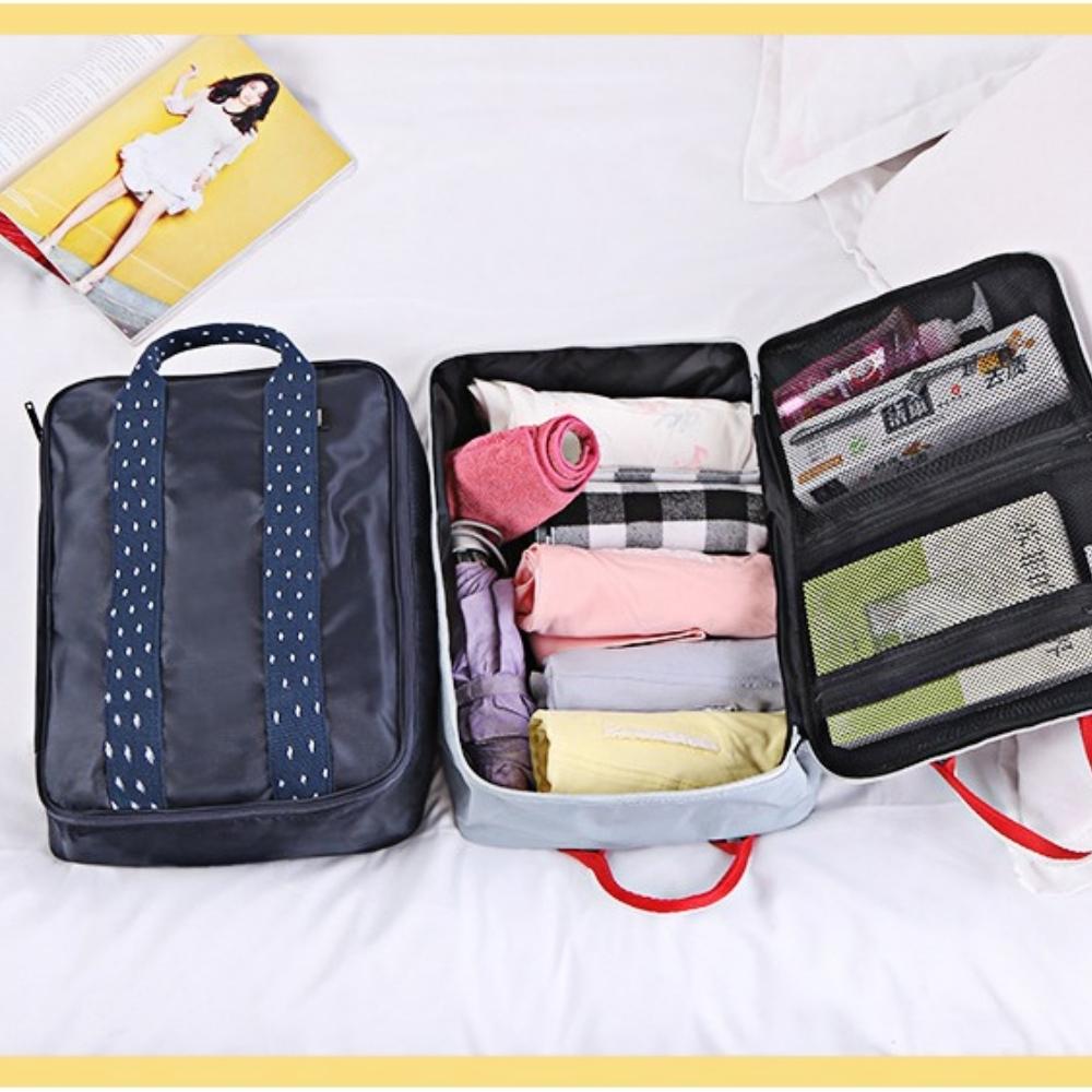 【Bunny】旅行衣物整理收納包差旅手提單肩包
