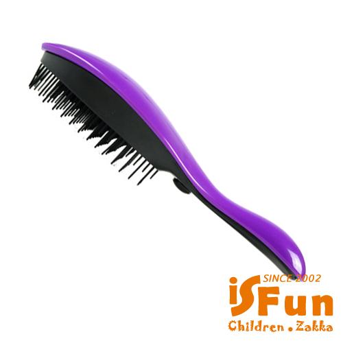 【iSFun】美髮小物*電動按摩防打結梳/隨機色