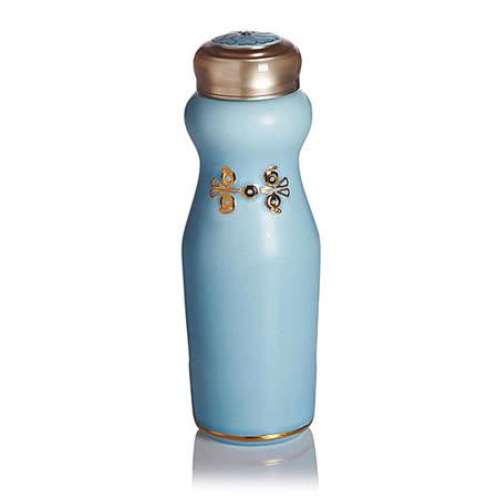 乾唐軒活瓷‧吉星華風一手瓶(小 / 單層 / 鎏金+無光水藍 / 施華洛世奇元素)