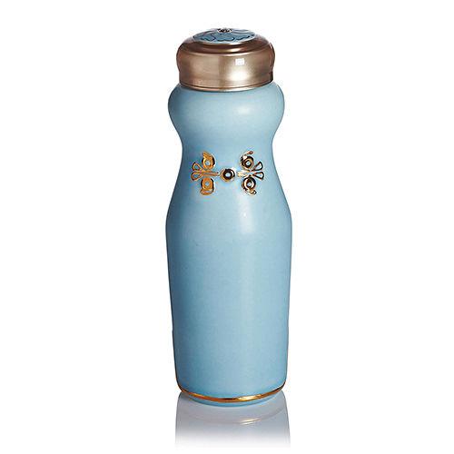 乾唐軒活瓷‧吉星華風一手瓶(小 單層 鎏金 無光水藍 施華洛世奇元素)