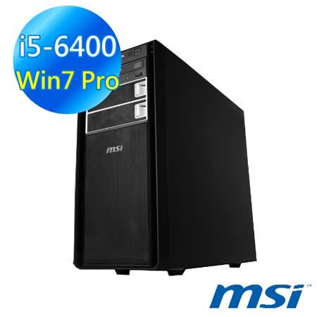 MSI 微星 ProBox400-003TW i5-6400 4G 1TB Win7 Pro 電腦【買就送螢幕】
