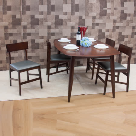 【AS】梅維斯與傑夫餐桌椅組(一桌四椅)