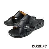 【CR CERINI】輕量氣墊休閒拖鞋 黑色(55221-BL)