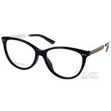 GUCCI光學眼鏡 精品時尚貓眼款(黑-銀) #GG3840F CSA