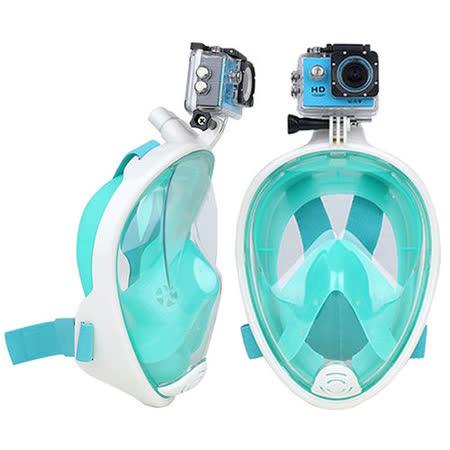 【THENICE 】二代 浮潛面罩 綠色 可攜運動攝器材 呼吸面罩 蛙鏡 游泳 潛水 出國 旅遊 大海 傑聯總代理公司貨