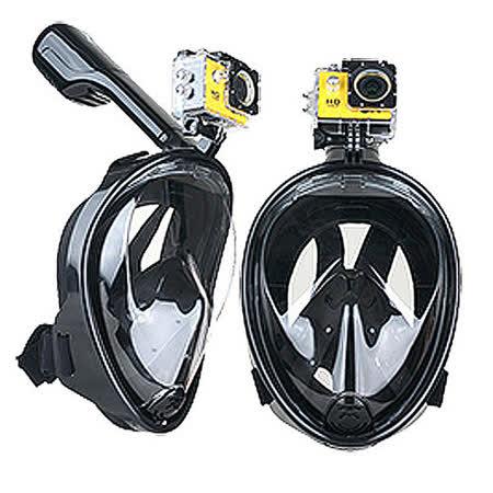 【THENICE 】二代 浮潛面罩 黑色 可攜運動攝器材 呼吸面罩 蛙鏡 游泳 潛水 出國 旅遊 大海 傑聯總代理公司貨